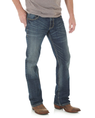 Men's Retro Stretch Slim Fit Boot Cut Jeans