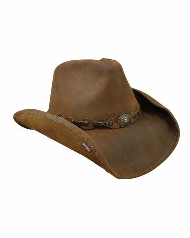 Stetson's Roxbury Leather Hats - Rustic