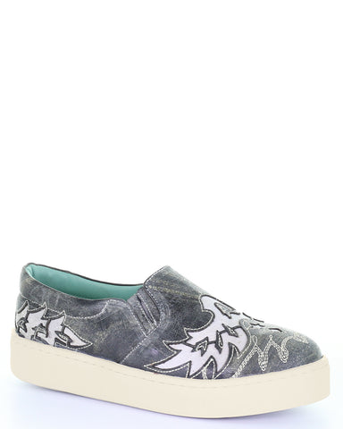 Women's Cream Inlay Sneakers