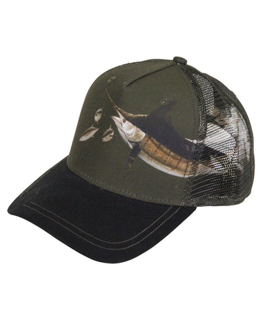 Guy Harvey's Frenz Trucker Ball Cap - Olive