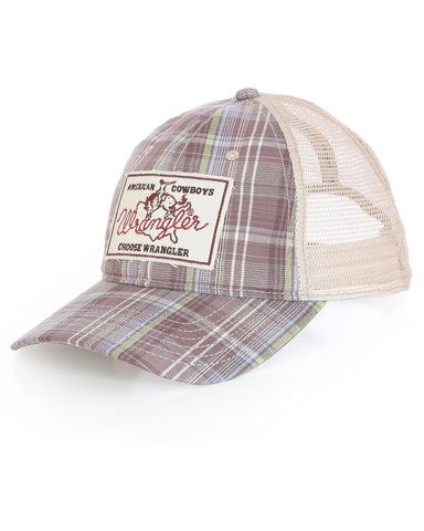 Wrangler Plaid American Cowboys Ball Cap