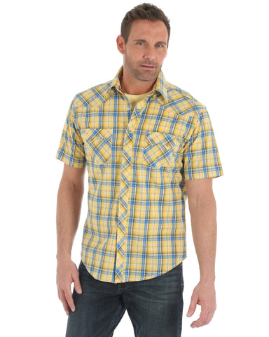 69c6d8eb Mens Retro Plaid Sawtooth Pocket Short Sleeve Western Shirt – Skip's ...