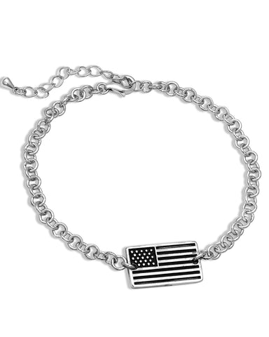 Freedom Isn't Free Flag Bracelet
