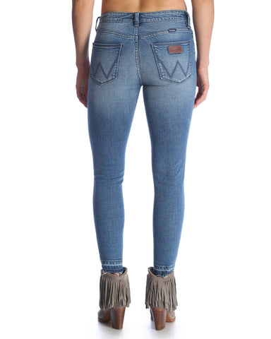 Womens Premium Patch Skinny Jeans