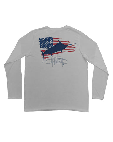 Mens Patriot UV-X Performance Long Sleeve T-Shirt