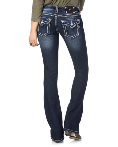 Women's Loose Saddle Stitch Border Jeans