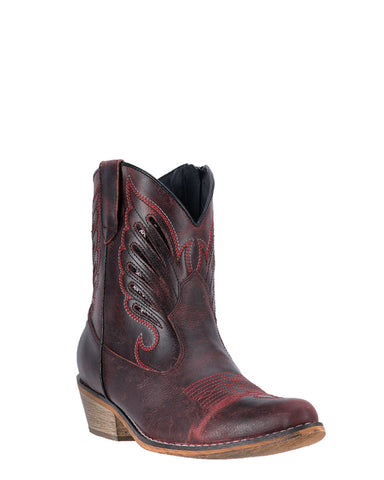 Women's Flat Bush Ankle Boots - Red