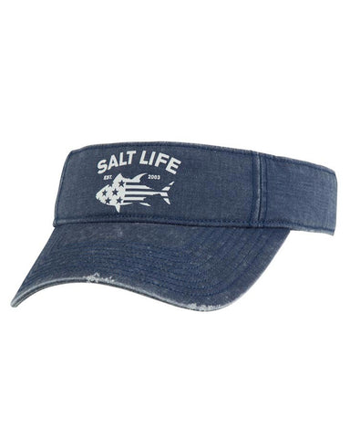 Salt Life Red White & Bluefin Visor - Vintage Blue