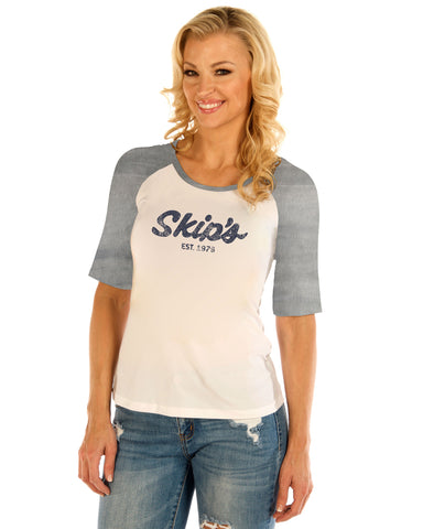 Women's Baseball T-Shirt - Blue