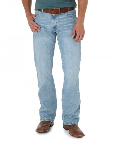 Men's Retro Slim Fit Jeans - Light Blue