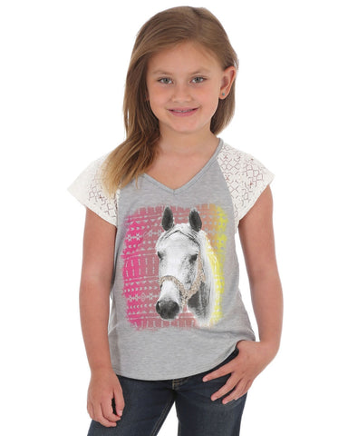 Girl's Aztec Horse Graphic T-Shirt