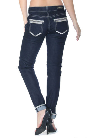 Women's Dressy Junior Fit Skinny Jeans