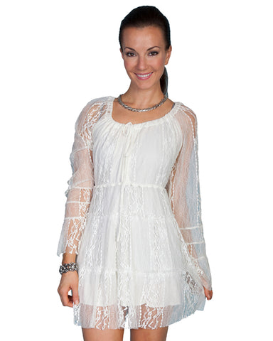 Women's Lace Dress - Ivory
