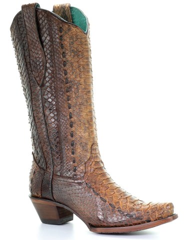 Women's Woven Full Python Cowgirl Boots