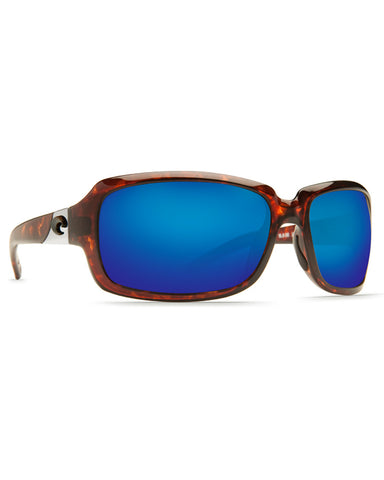 Isabela Blue Mirror Sunglasses