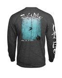 Mens Hook Line n Sinker Long Sleeve Shirt - Grey
