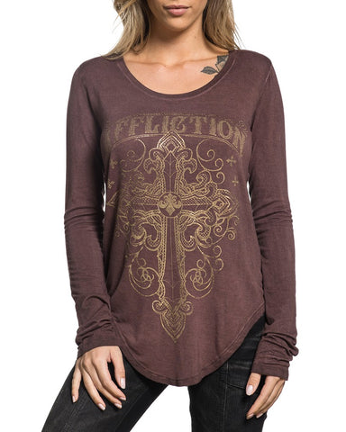 Womens Zinfandel Long Sleeve Blouse