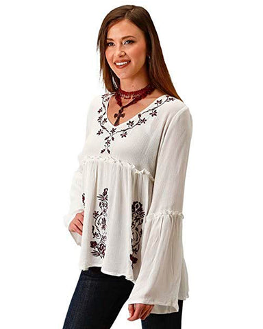Women's Embroidery Peasant Blouse
