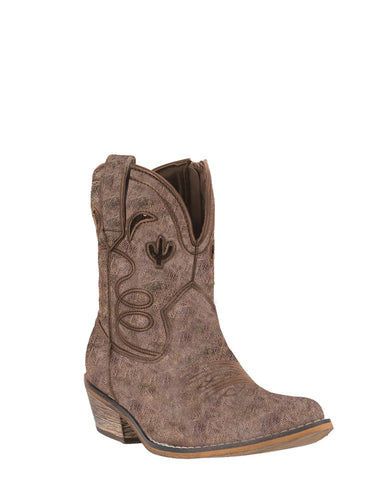 Women's Adobe Rose Ankle Boots - Taupe
