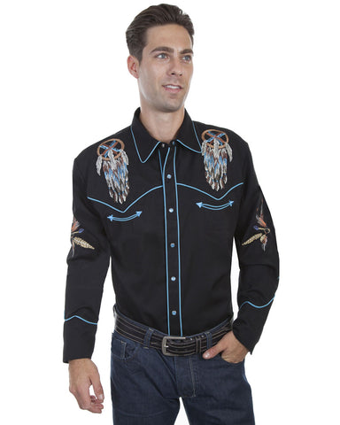 Mens Dream Catcher Long Sleeve Western Shirt