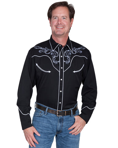 Mens Barbwire Rose Western Shirt