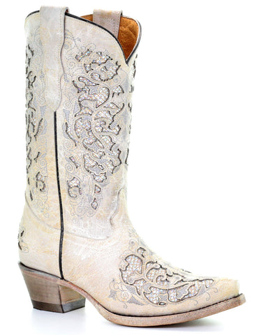 Kid's Glitter Inlays & Embroidery Boots