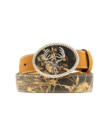 Kid's Deer Skull Buckle Belt