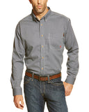 Men's Plaid Flame Resistant Western Shirt