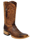 Mens Brandy Smooth Ostrich Boots