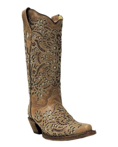 Women's Glitter Embroidered Boots