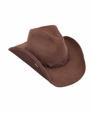 Stetsons Roxbury Leather Hats - Mocha