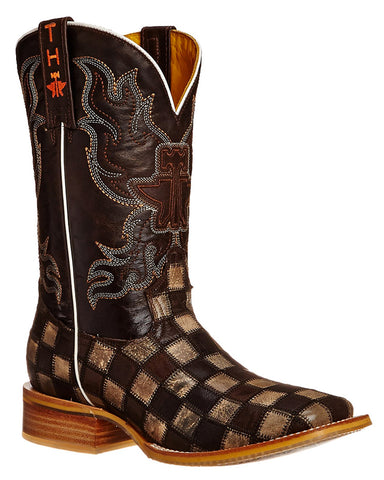 Men's Gun Metal Check Boots