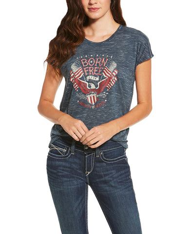 Womens Born Free Eagle T-Shirt