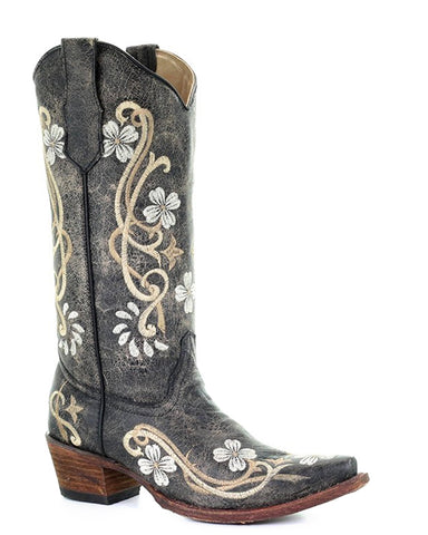 Womens Circle G Embroidered Boots