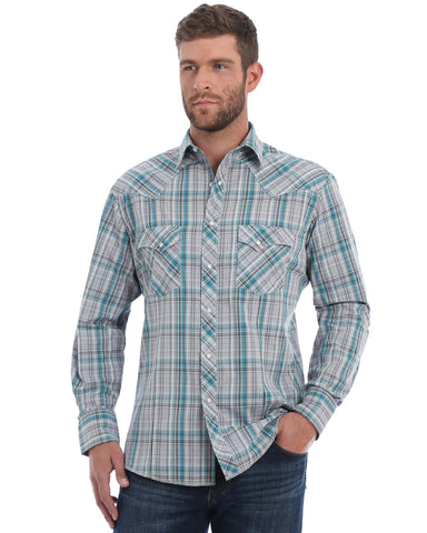 Men's Lurex Long Sleeve Western Shirt