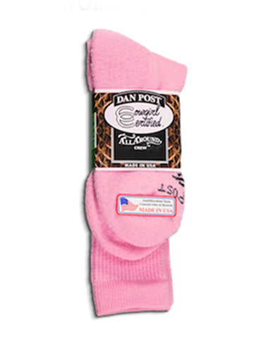 Womens Cowgirl Certified Socks - Pink