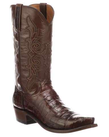 Men's Limited Release Caiman Belly Boots - Sienna