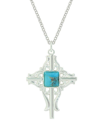 Montanas Gates Of The Mountains Cross Necklace