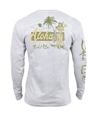 Mens Low Tide Lounge Long Sleeve T-Shirt - White