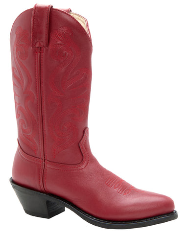 Women's Red Leather Boots