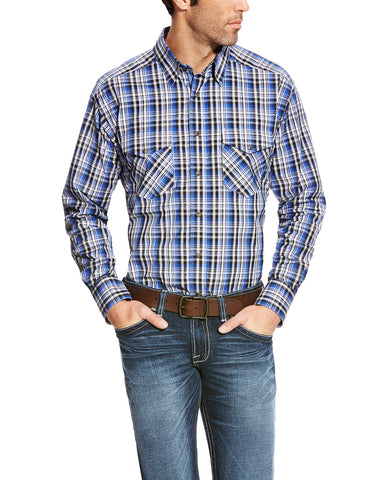 Mens Brookwood Performance Long Sleeve Western Shirt