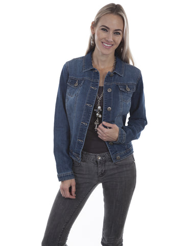 Women's Plain Denim Jacket