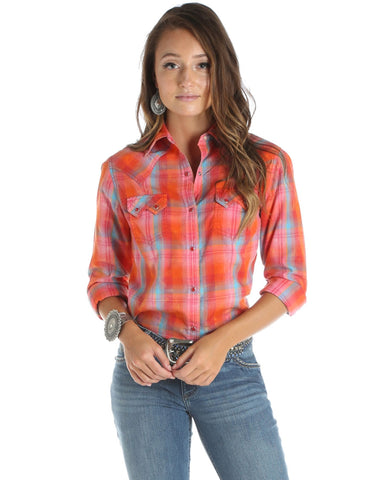 Women's Bleach Splatter Long Sleeve Western Shirt