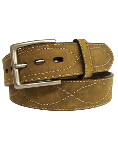 Mens Crazy Horse Contrast Belt
