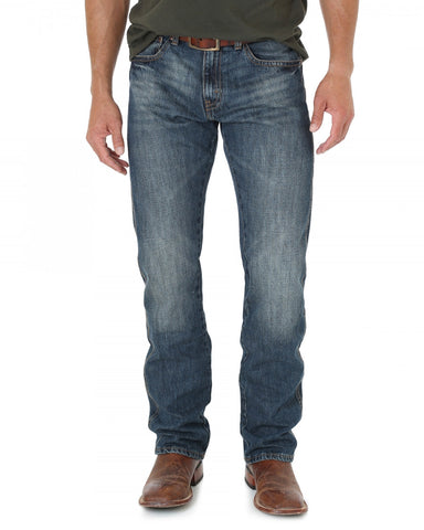 Mens Retro Straight Leg Jeans - Dark Night