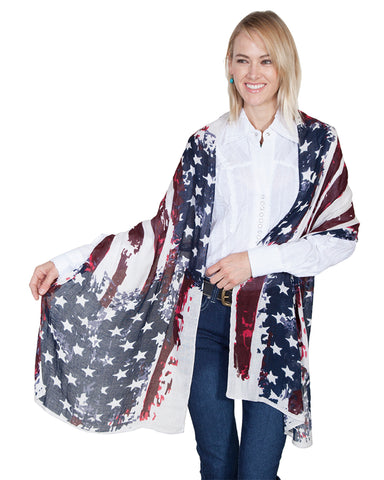 Women's Flag Scarf Wrap