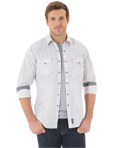 Men's Retro Western Long Sleeve Shirt