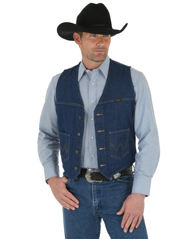 Men's Unlined Prewashed Denim Vest
