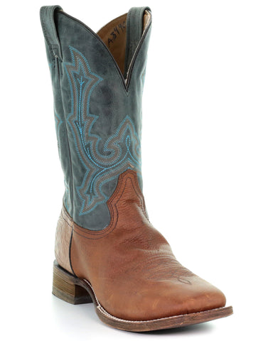 Men's Embroidered Comfort Boots - Brown