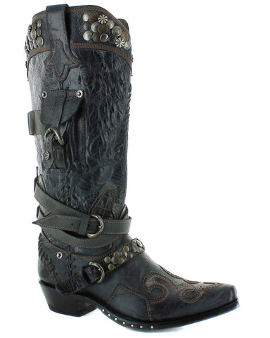 Womens Frontier Trapper Boots - Black